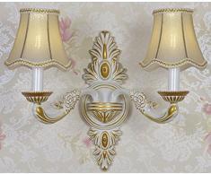 Der Ehemalige Amerikanische Land Schmiedeeisernem Bett Schlafzimmerspiegel LED-Wand Salon Vintage-Wandleuchte Gang 13in * 6in * 14in,White-single
