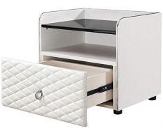 Giow Nachttisch nachttisch, Schlafzimmer kleine Kunstleder Moderne multifunktions lagerung lagerung nachttisch, geeignet für Wohnzimmer/Schlafzimmer/arbeitszimmer, 3 Farben zur Auswahl (Farbe