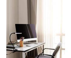 (1 in 1)LED Klemmleuchte 6W dimmbare Bettleuchte Farben Leselampe Flexible Augenschutz für Schlafzimmer Büro mit 5 Helligkeitstufen mit 5 helle USB-Kabel Inklusive