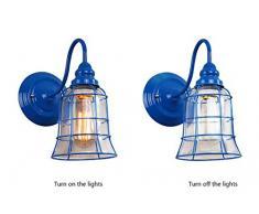 LXsnail Wandleuchte / amerikanische Art einfache kreative Wandlampe / Farbenwandlampe vor Schlafzimmerspiegel ( farbe : 4* )