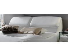 SAM® Polsterbett Lucca in Weiß 160 x 200 cm geschwungene Seitenteile Chromleiste an Kopf- und Fußteil Kopfteil aufklappbar modernes Design Wasserbett geeignet Bett teilzerlegt Auslieferung durch Spedition
