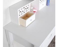 Landhaus Schminktisch Frisierkommode Schreibtisch Kosmetiktisch Frisiertisch in Weiß