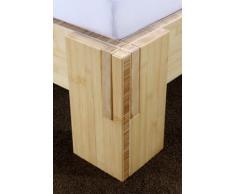Bambusbett JAVA Bett aus Bambus ohne Rückenlehne 140x200cm (ohne Nachttische, Höhe Bettkante 30cm)