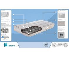 Matratze Economic Classic mit Bonell Federkern in Überlänge- Abmessungen: 160 x 220 cm