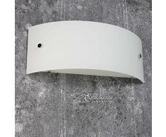 Schicke Wandleuchte in Weiß E14 bis 60 Watt 230V Wandlampe aus Glas für Esszimmer Schlafzimmer Flur Küche Lampen Leuchte Beleuchtung