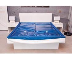 Aqua Sense Eine Wasserbett Matratze 100x200 für 200x200 Softside Wasserbett Dual Wasserkern Wassermatratze Wasserbettmatratze Mesamoll2® (0% Beruhigung) + 2 Wasserbett Conditioners (100 ml)