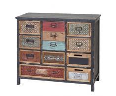 Mendler Apotheker-Schrank HWC-A43, Kommode, Tanne Holz massiv Vintage Shabby-Look 90x84x32cm
