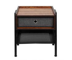 EBTOOLS- Nachtschrank Nachttisch Nachtkommode Sofatisch aus Metall mit Schublade und Ablage für Schlafzimmer und Wohnzimmer, 42 * 35 * 52,5 cm