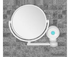 DADAO Saugnapf Badezimmerspiegel Schlafzimmer-wandspiegel Runde Wand-kosmetikspiegel