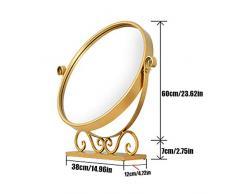 DQMSB Spiegel Spiegel Mini runde Tisch Schlafzimmerspiegel, DREI Größen erhältlich Dressing Spiegel (größe : 38 * 12 * 60cm)