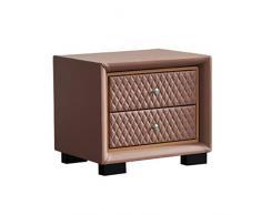 GCMJ Leder Oberfläche Tisch for Schlafzimmer Dorm Wohnzimmer Moderne Vogue Nachttisch mit Schubladen