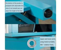 EU13 Garderobe Massivholz-Bodenkleiderbügel drehbarer Kosmetikspiegel einfacher Schlafzimmerspiegel/oder kein Hatstand (Color : Blau)