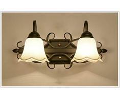 LED-Spiegel-Frontleuchten im amerikanischen Stil Badezimmer-Wandleuchte im europäischen Stil Praktisches Licht Retro-Schlafzimmerspiegel-Frontleuchten (Farbe 1)