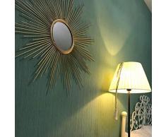 ZPWSNH Wandspiegel runden antiken Metallstern platzen hängenden Spiegel Wand Moderne Boho-Stil Dekor Wohnzimmer Badezimmer Schlafzimmer und Eingang Wandspiegel (Size : 50cm)