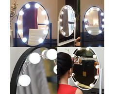 TopDirect Hollywood LED Spiegelleuchte, Make-up Schminklicht Spiegellampe, Schminktisch Leuchte Spiegellicht Set für Kosmetikspiegel / Schminkspiegel / Frisierkommode / Frisiertisch / Kosmetiktisch, 10 LED / 13.5ft (Spiegel nicht enthalten)