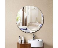 lquide Badezimmerspiegel in gewellter Form, kreativer Schlafzimmerspiegel an der Decke befestigt Kosmetikspiegel ohne Rahmen Dekorativer Friseur-Kosmetikspiegel