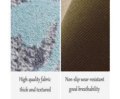 Yikuo Geometrische Punktliniengrafiken, Couchtisch-Teppich Für Zu Hause, Nordischer Wohnzimmerteppich, Schlafzimmertextilien, Polyestermaterial, DREI Größen Komfortabel und schön (Size : 120 * 160cm)