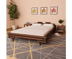 honglianghongshang Betten & Zubehör Betten & Bettgestelle Bambusbett 140 x 200 cm Dunkelbraun