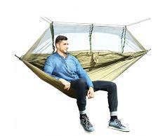 KHTO 1-2 Personen Outdoor Moskitonetz Fallschirm Hängematte Camping Hängen Schlafsofa Schaukel Tragbare Doppel Hängematte