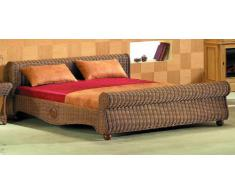 XMC VOGI Bett 180 x 200 (außen: 189 x 236) in Rattan coco