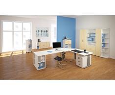 Gera Möbel Schranksystem Flex Flügeltürenschrank, Drehtürenschrank, Holzdekor, Ahorn/Weiß, 80 x 42 x 110.4 cm