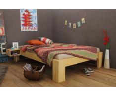 Bett 140x220cm Überlänge, Steckbett metallfrei, Bambus Bett SUVA , Höhe 40cm