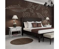 DIY Pflanze Baum Muster runder Punkt 3d Wall Sticker Home Decor großen Wandspiegel Schlafzimmer Bed Head Aufkleber Aufkleber Poster: R101, Silber, S 446 cm x 228 cm
