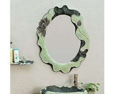 Badezimmerdekorativer Spiegel Badezimmerwandspiegel Retro- Runder Schlafzimmerspiegel Toiletten-Schminkspiegel Neuer Chinesischer Kunstpersönlichkeitsspiegel in Voller Länge Spiegel