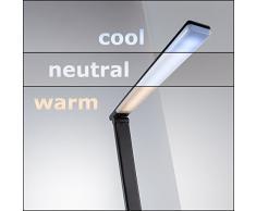 LED Schreibtischlampe Dimmbar USB Ladeanschluss Inkl. LED Platine 230V IP20 5W Tischleuchte Nachttischlampe In 7 Helligkeitsstufen Dimmbar 5 Farbtemperaturen Kaltweiss Bis Warmweiss Touch Control Lampe Tischlampe 230v Volt Kunststoff Schwarz 500lm