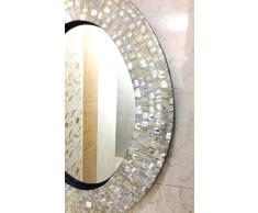 Wandspiegel Schlafzimmer Perlmutt Inlay Oval Frame dekorative Inneneinrichtungen