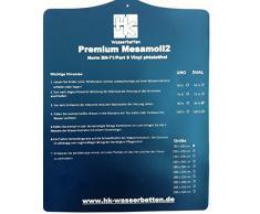 Einzelne Mesamoll2 Wasserbettmatratze, Wasserkern, Wassermatratze, 100x220 cm für DUAL Softside Wasserbett Außenkante Schaumstoff 200x220 cm (F2 50% Beruhigung)
