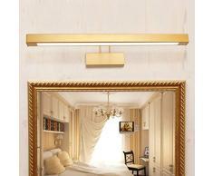 &LED Spiegelfrontlampe Spiegelfrontlicht, Badspiegelleuchte Schlafzimmerspiegel Lightsmakeup Spiegellicht Lampe vor dem Spiegel (Farbe : Warmes weißes Licht-14w-62.5cm)