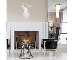 Großer Wandspiegel Acryl unzerbrechlich Hirsch 30 x 60 cm, Wohnzimmer, Schlafzimmer, außergewöhnliche