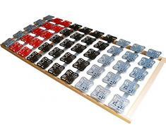supply24 5 Zonen Teller Lattenrost/Tellerfeder Lattenrahmen 160 x 200 cm Kopf- und Fußteil unverstellbar Tellerlattenrost Tellerlattenrahmen günstig