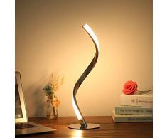 Tomshine Spiral LED Tischleuchte 6W 3000K Warmweiß Nachttischlampe Nachttischlampe für Schlafzimmer Wohnzimmer Büro