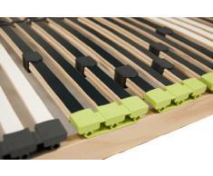 DaMi 7 Zonen Lattenrost Lattenrahmen zerlegt Lattenrost Relax Kopf mit 42 Federholzleisten und Kopfverstellung (70 x 200 cm)