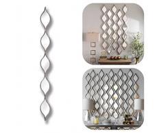 Silber Fünf Tropfenform Accent Wandspiegel Chic und elegant Wand aufhängen. Flur, Bad, Wohnzimmer, Schlafzimmer Spiegel. Verkauft Single Panel