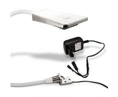 SO-TECH® LED Bettleuchte Luminoso Weiß inkl. Netzteil Flexleuchte Leseleuchte Schwanenhalsleuchte