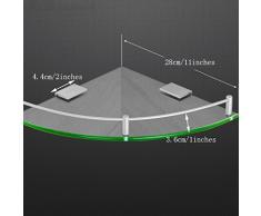 YXN Raum-Aluminiumglas-Badezimmer-Regal-Badezimmer-Dreieck-einzelne Metallanhänger-Eckkommode (größe : 28cm)
