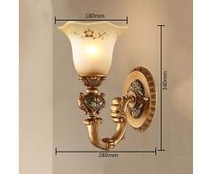 B-D Retro Schlafzimmerspiegel Der Europäischen Art Der Wandlampe Einfacher Flurganggang Treppenhaus