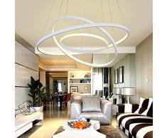 LED Pendelleuchte Modern 3 Ringe Entwurf Runden Hängelampe Kronleuchter Zum  Wohnzimmer Esszimmer Schlafzimmer Studierzimmer Decke Beleuchtung