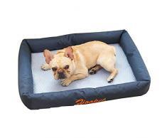 ZHANGYY Haustier Hund Selbstkühlende Matte Kühlmatten Bett Nicht klebend Ungiftig Atmungsaktiv Waschbar Rattan Cat Gel Pad-M