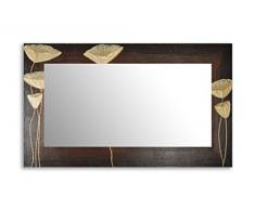 Einzigartiger Spiegel mit einem 3D-Rahmen 110 x 50cm 50 x 110cm Spiegel mit handgearbeiteten Dekorrahmen Flurspiegel Schlafzimmerspiegel Küchenspiegel Stabiler Rückwand, Rahmenleiste: 100 mm breit und 20 mm hoch, Rahmen Model: