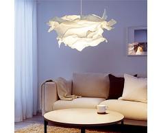 Modern DIY Pendelleuchte Papier Lampenschirm Runden Kreative Design  Hängeleuchte E27 Hängelampe Für Wohnzimmer Schlafzimmer Esszimmer Weiß