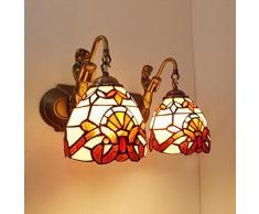 Im mediterranen Stil Frontlampen Tiffany Innenbeleuchtung Bad Wandlampe Doppelzimmer Bügeleisen Balkon Studie Schlafzimmerspiegel
