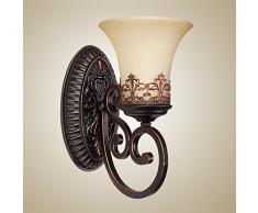 American Antik Flur Wandleuchten europäischen Schlafzimmer Nachttisch Wandleuchte Spiegel vor Wohnzimmer Wand Leuchten Antik 1 Head