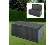 Schwarze Kunststoff Garten Staubox Deckel Terrasse Schuppen Material Polster Truhe 747519