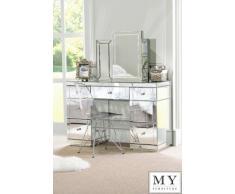 Spiegel für Frisiertisch, 3-teilig klappbar, verspiegelte Schlafzimmerserie, Coleta