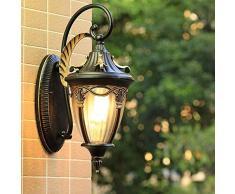 Wandleuchte Außenleuchte Retro Innenbalkon Gartenleuchte Nostalgische LED Schlafzimmerspiegel Villa Loft