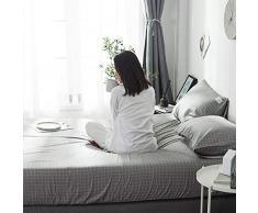 GUANLIDE Baumwolle Bettlaken,Spannbetttücher, flaches Stück Baumwolle, Matratzenbezug für Schlafzimmertextilien vertiefen hellgrau_120 * 200cm
